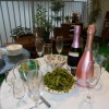 ガーデンテラスでシャンパンパーティ