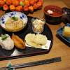土鍋のきのこご飯と秋の味覚御膳
